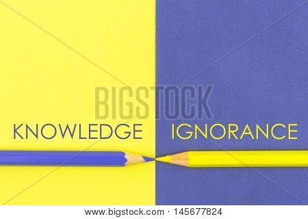 Knowledge Versus Ignorance Contrast Concept