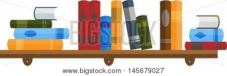 Abstract graphic bookshelf with stacks of book