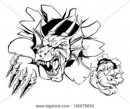Angry Dragon Sports Mascot