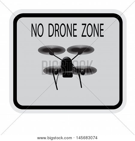Image drone. Caption no drone zone . Vector illustration