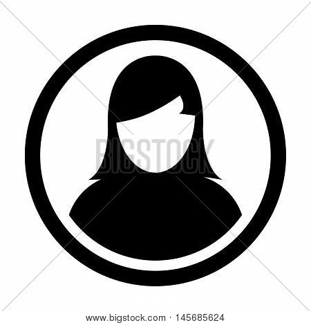 User Icon - Human, Woman, Profile, Businesswoman, Avatar, Person Glyph Vector illustration