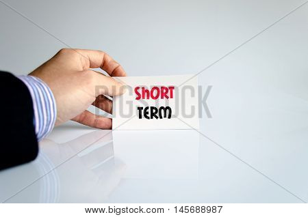 Short term text concept isolated over white background