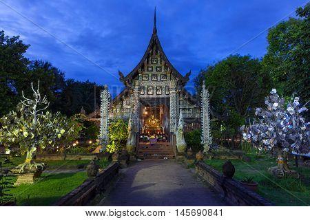 Wat Lok Molee At Dusk, Chiang Mai, Thailand