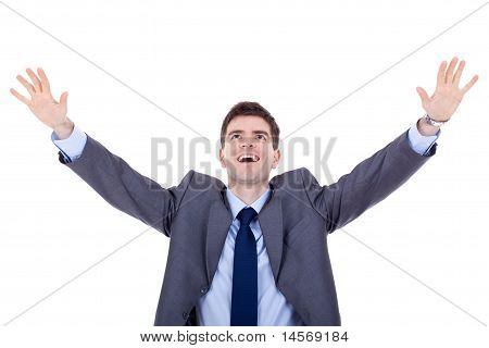 Man Expressing Success