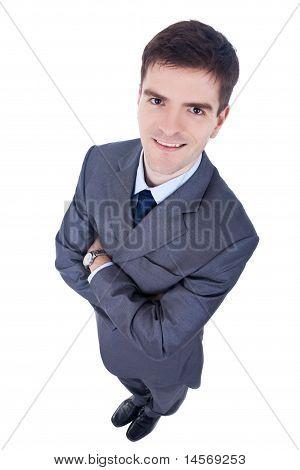 Business Man, Wide Angle Shot