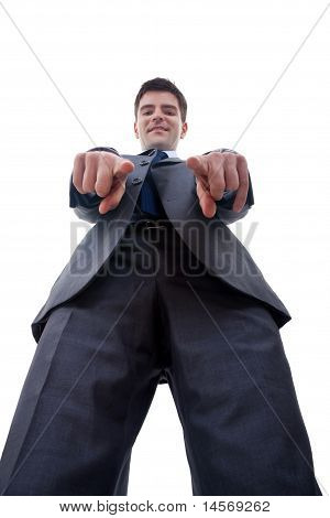 Business Man Pointing To Camera