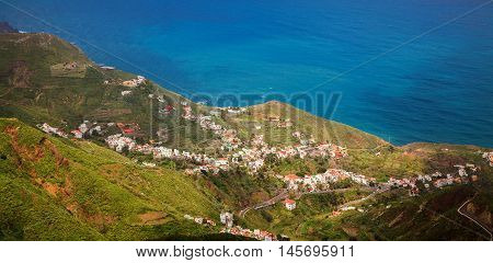 small village Taganana in Anaga mountains near the ocean Tenerife Canary Islands Spain
