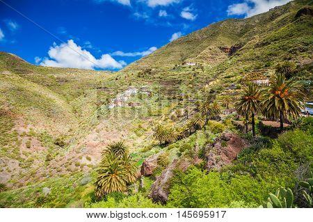 beautiful landscape with Masca village Tenerife Canary Islands Spain