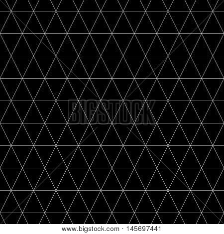 Triangle geometric seamless pattern. Fashion graphic background design. Modern stylish abstract monochrome texture. Template 4 prints textiles wrapping wallpaper website. Stock VECTOR ilustration