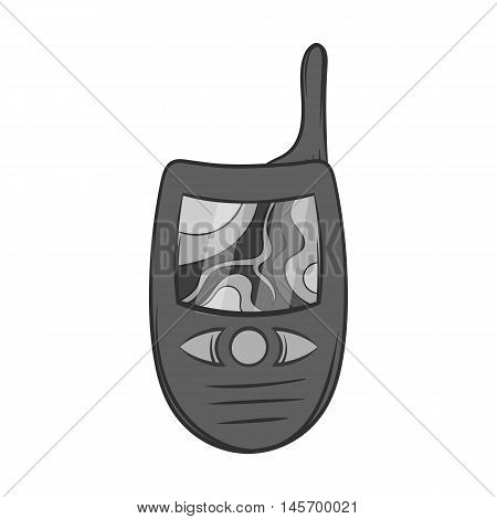 Radio icon in black monochrome style isolated on white background. Connection symbol. Vector illustration