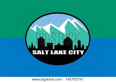 Flag of Salt Lake City is the capital state of Utah USA