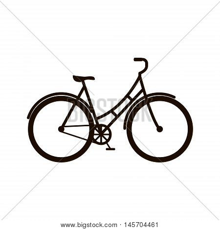 Bicycle illustration. Vector illustration of bicycle on white background isolated.