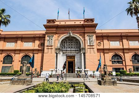 APR 14 2014.Cairo.The building of the National Egyptian Museum in Cairo .Egypt.