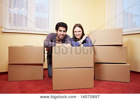 Couple Behind Moxing Boxes