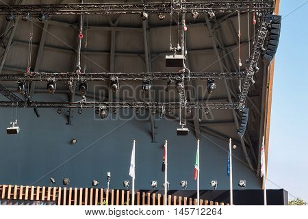 Stage Lights Rack with Spotlights, architectural theme