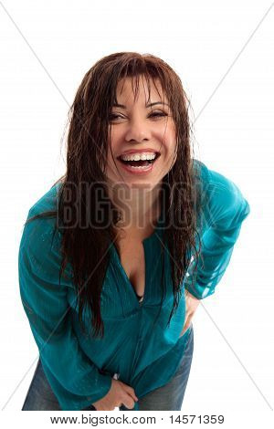 Happy Vibrant Girl Laughing