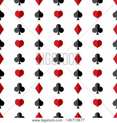 Vector Seamless Playing Cards Suits Pattern