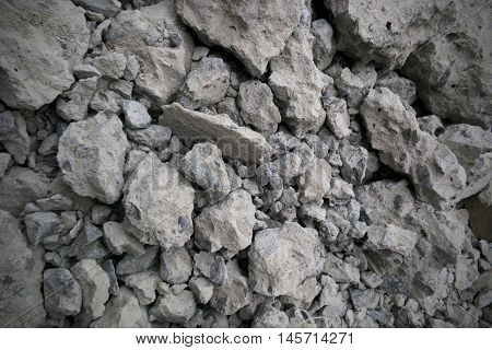Scrap of Cement.Cement Scrap After Destroy The Building.