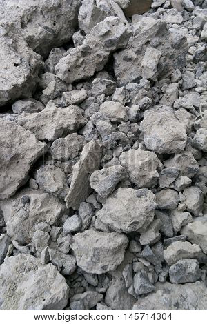 Remainder of Building After Destroy The Building. Cement Scrap.
