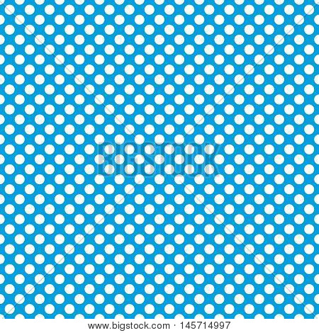 Tile vector pattern with cute white polka dots on blue background  Tile vector pattern with cute white polka dots on blue background