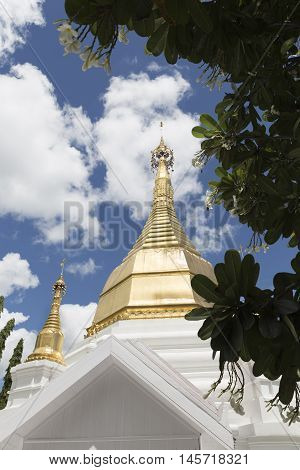 Golden Pagoda In Buddhism  Temple