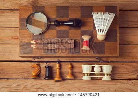 Hipster lifestyle. Vintage and modern objects collection