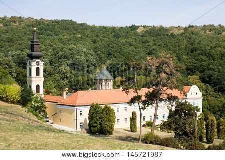The orthodox monastery Novo Hopovo (New Hopovo) in Serbia. The monastery was built in the 18th century. It is located in the northern Serbia in the province of Vojvodina.