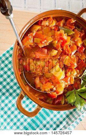 Closeup Of Vegan Stew