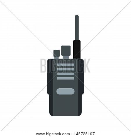 Portable radio transceiver icon in flat style on a white background vector illustration