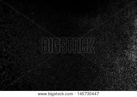 Abstract Splashes Of Water On Black Background.