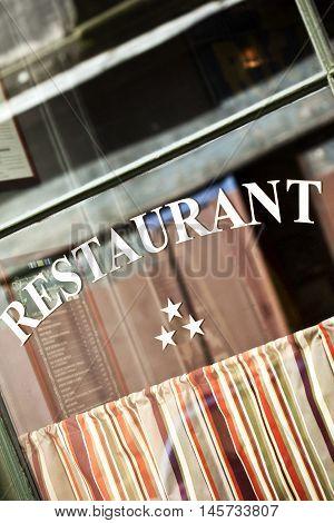 Window Of A Classic Restaurant