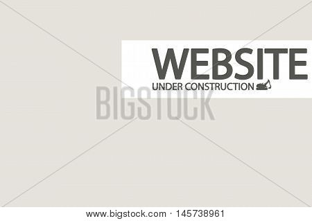 illustration of unser construction website with small vehicle silhouette