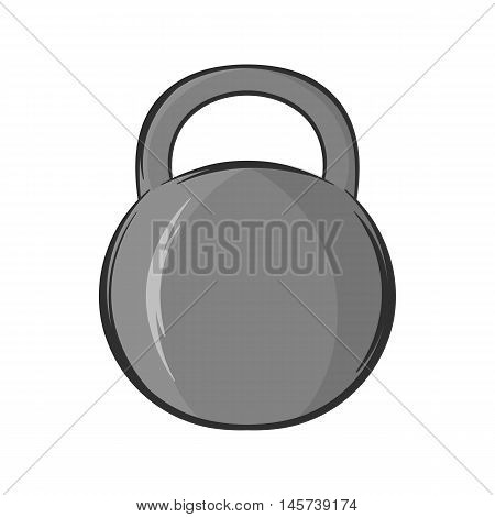 Weight icon in black monochrome style isolated on white background. Sport symbol. Vector illustration