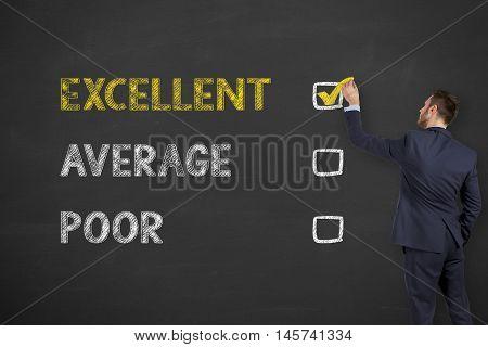 Excellent Customer Service Evaluation Form Drawing on Blackboard