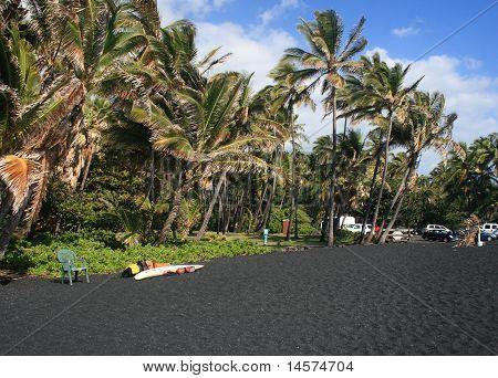 Hapuna black sand beach