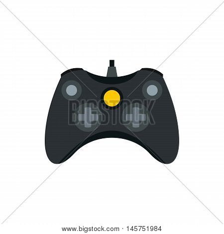 Joystick for playing games icon in flat style isolated on white background. Play symbol vector illustration