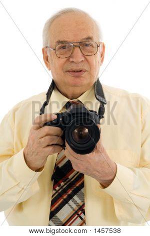 Fotógrafo de prensa exitosa Senior