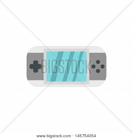 PSP icon in flat style isolated on white background. Play symbol vector illustration