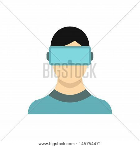 Virtual reality glasses icon in flat style isolated on white background. Gadget symbol vector illustration