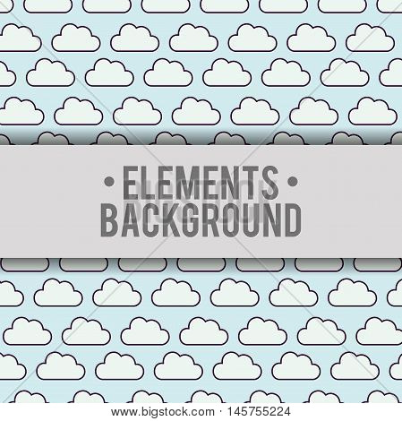 clouds elements background wallpaper cute fantasy fairytale female childhood dream icon. Colorful design. Vector illustration