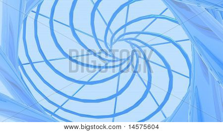 Swirl of Blue Vines