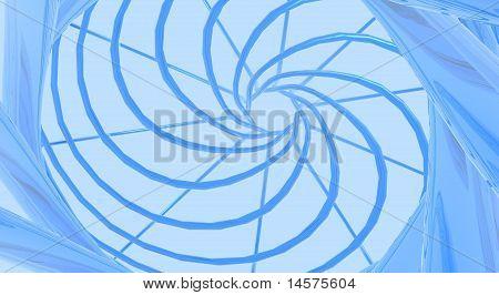 Swirl of Blue Vines
