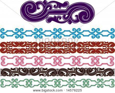 Filigree medieval patterns set