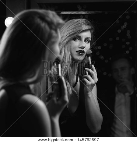 Sexy Woman Doing Make Up
