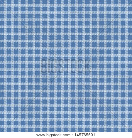 Illustration of blue traditional picnic checkered tablecloth