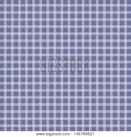 Illustration of violet traditional picnic checkered tablecloth