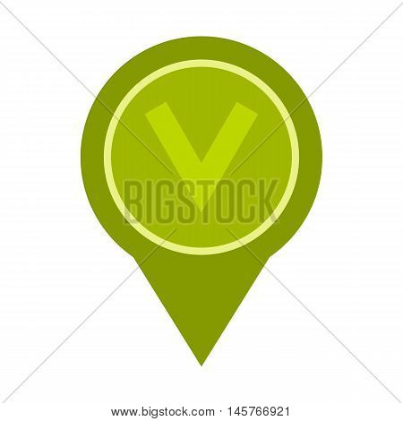 Button checkbox icon in flat style isolated on white background. Click and choice symbol vector illustration