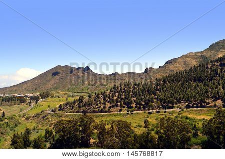 A view of Santiago Del Teide countryside in Tenerife