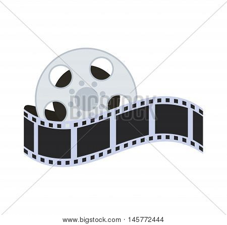 film strip reel cinema movie entertainment show icon. Flat and Isolated design. Vector illustration