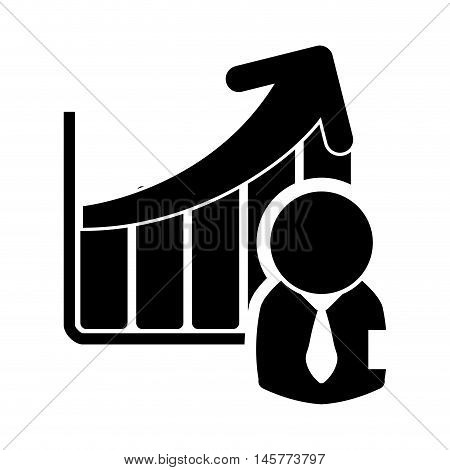 businessman infographic pictogram necktie business financial item icon. Flat and Isolated design. Vector illustration
